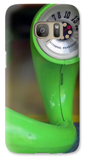 Galaxy Case featuring the photograph Lime Green Twisted Radio by Matthew Bamberg