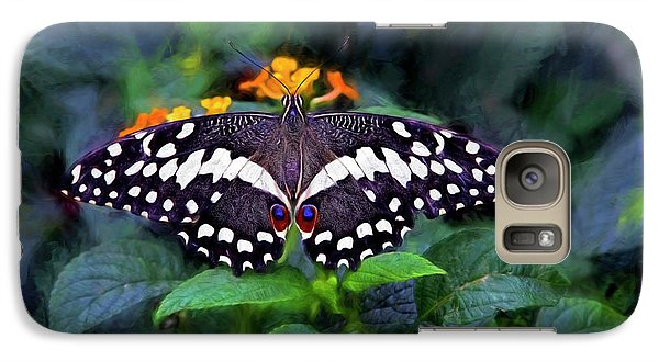 Galaxy Case featuring the photograph Lime Swallow Tail by James Steele