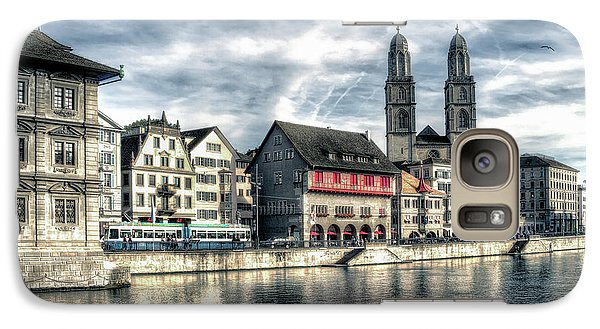 Galaxy Case featuring the photograph Limmat Riverfront by Jim Hill