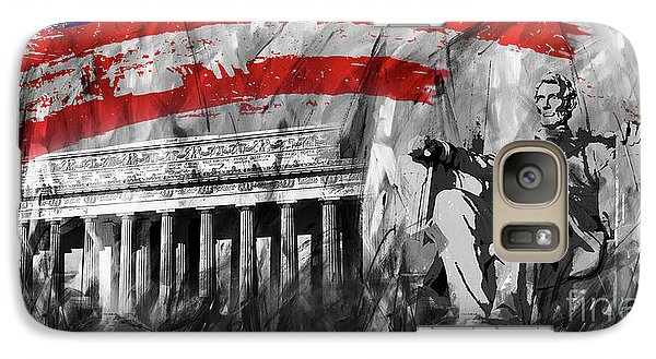 Galaxy Case featuring the painting Lincoln Abe by Gull G