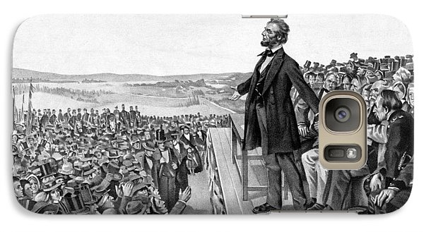 Lincoln Delivering The Gettysburg Address Galaxy Case by War Is Hell Store