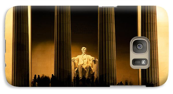 Lincoln Memorial Illuminated At Night Galaxy Case by Panoramic Images