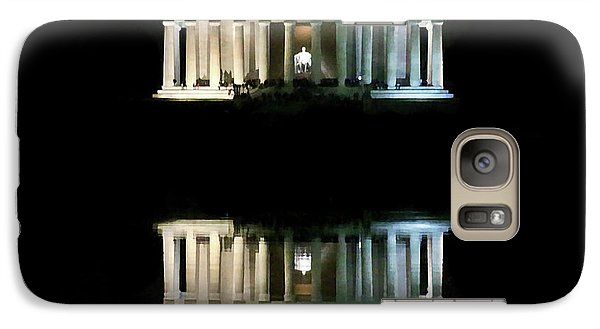 Galaxy Case featuring the photograph Lincoln Memorial by Lorella Schoales