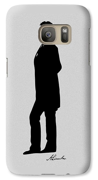 Lincoln Silhouette And Signature Galaxy Case by War Is Hell Store