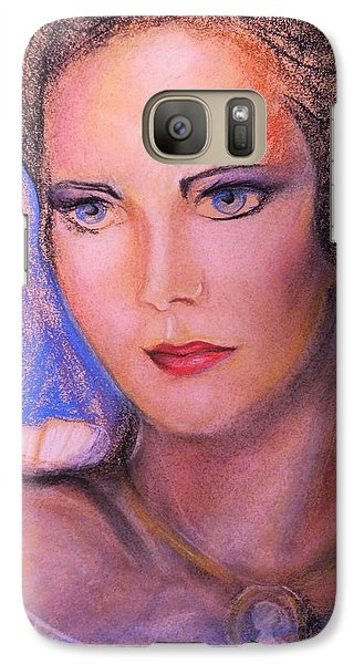 Galaxy Case featuring the pastel Linda Carter by Denise Fulmer