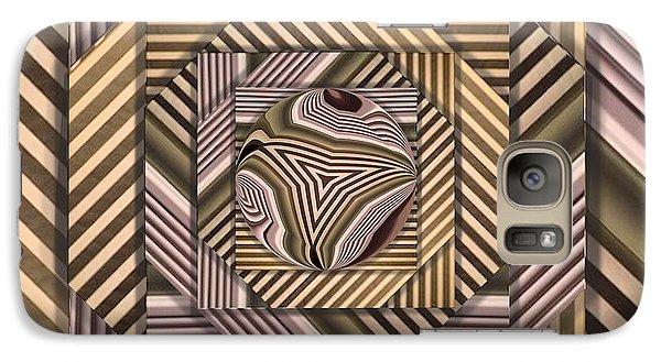 Galaxy Case featuring the digital art Line Geometry by Ron Bissett