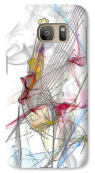 Galaxy Case featuring the digital art Line Pattern By Nico Bielow by Nico Bielow