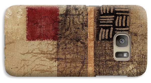 Galaxy Case featuring the photograph Linen Weave by Carol Leigh