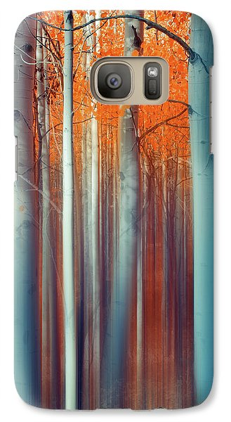 Galaxy Case featuring the photograph Lines Of Autumn by John De Bord