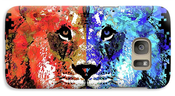 Galaxy Case featuring the painting Lion Art - Majesty - Sharon Cummings by Sharon Cummings