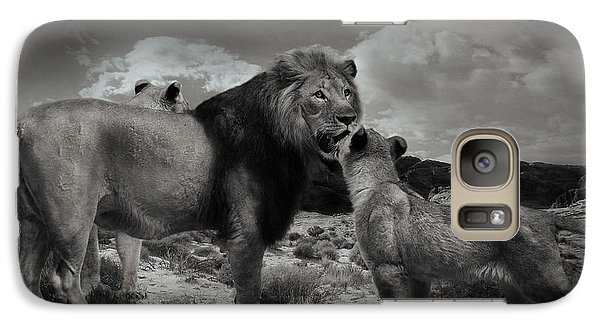 Galaxy Case featuring the photograph Lion Family by Christine Sponchia