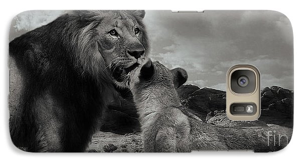 Galaxy Case featuring the photograph Lion Family Panorama by Christine Sponchia