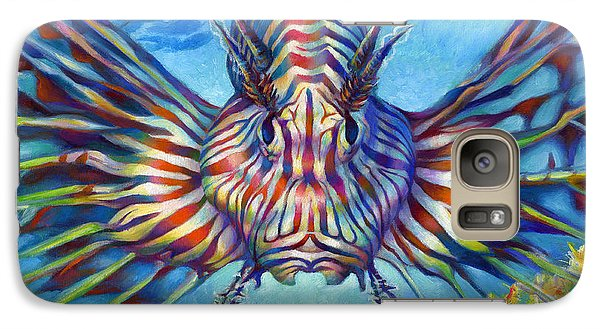 Galaxy Case featuring the painting Lion Fish by Nancy Tilles