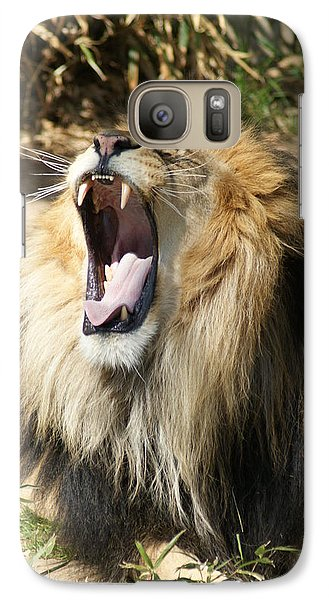 Galaxy Case featuring the photograph Lion by Heidi Poulin