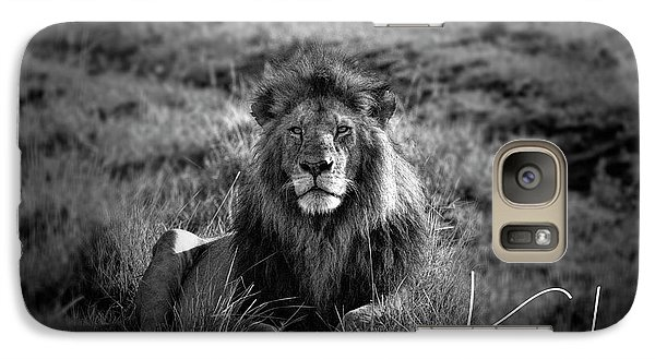 Galaxy Case featuring the photograph Lion King by Karen Lewis