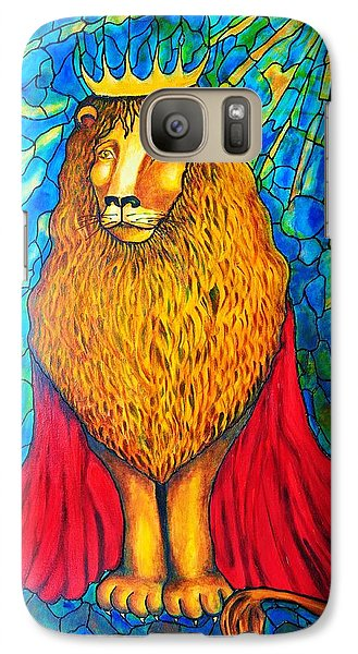 Galaxy Case featuring the painting Lion-king by Rae Chichilnitsky