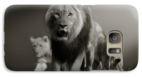 Galaxy Case featuring the photograph Lions On Their Way by Christine Sponchia