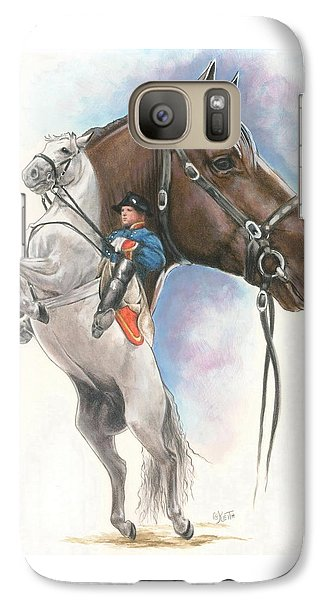 Galaxy Case featuring the mixed media Lippizaner by Barbara Keith