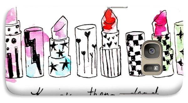 Lipstick Galore Galaxy Case by Elizabeth Taylor
