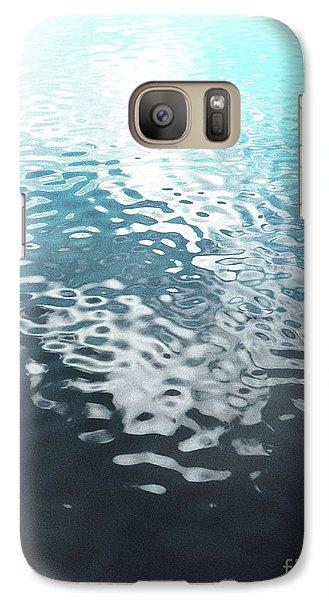 Galaxy Case featuring the photograph Liquid Blue by Rebecca Harman