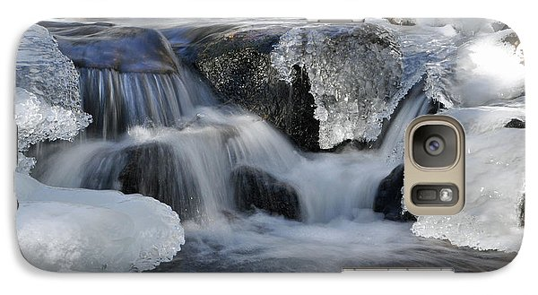 Galaxy Case featuring the photograph Winter Waterfall In Maine by Glenn Gordon
