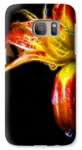 Galaxy Case featuring the photograph Liquid Lily by Cameron Wood