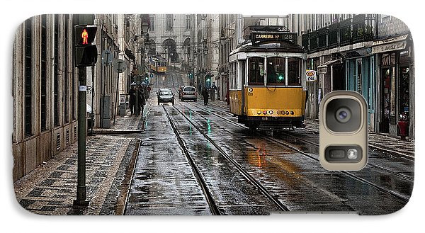 Galaxy Case featuring the photograph Lisbon Streets by Jorge Maia