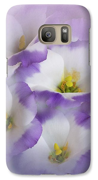 Galaxy Case featuring the photograph Lisianthus Grouping by David and Carol Kelly
