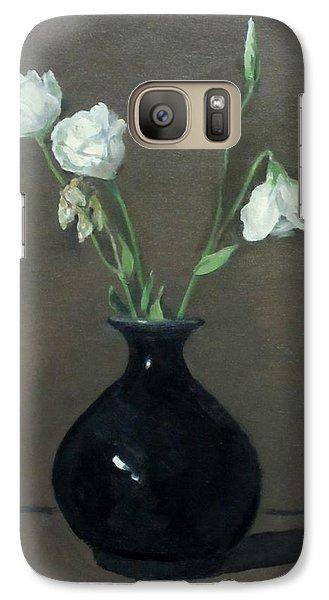 Lisianthus In Black Vase Galaxy S7 Case