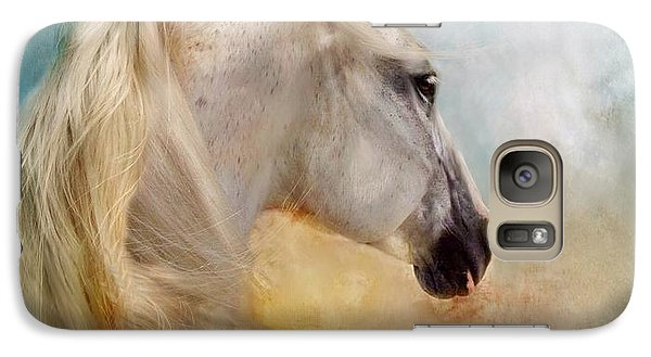 Galaxy Case featuring the digital art Listen To The Wind- Harley by Dorota Kudyba