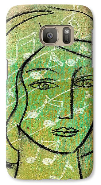 Galaxy Case featuring the painting Listening To Music by Leon Zernitsky