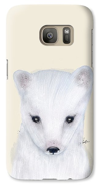 Galaxy Case featuring the painting Little Arctic Fox by Bri B