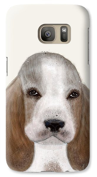 Galaxy Case featuring the painting Little Basset Hound by Bri B