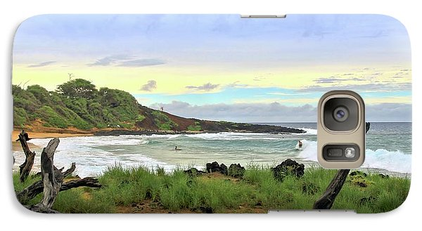 Galaxy Case featuring the photograph Little Beach by DJ Florek