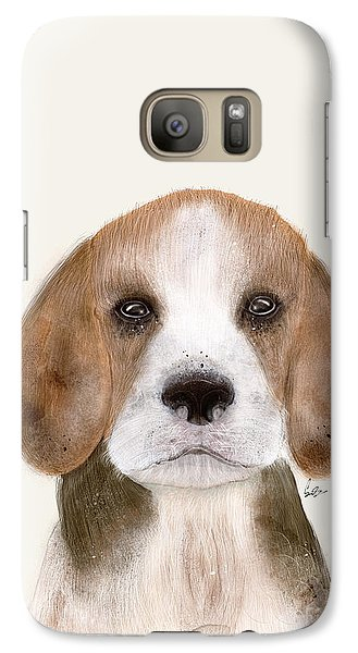 Galaxy Case featuring the painting Little Beagle by Bri B