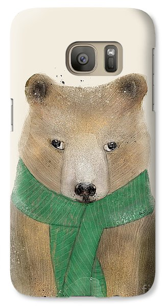 Galaxy Case featuring the painting Little Bear Brown by Bri B