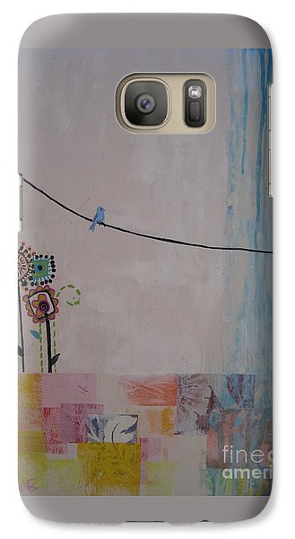 Galaxy Case featuring the painting Little Birdie by Ashley Price
