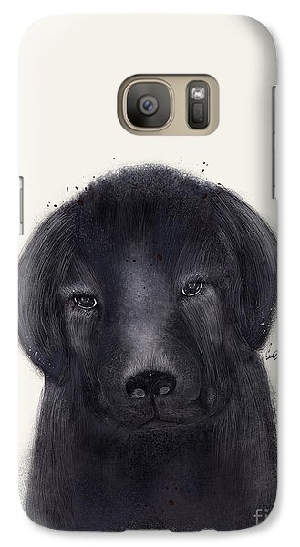 Galaxy Case featuring the painting Little Black Labrador by Bri B