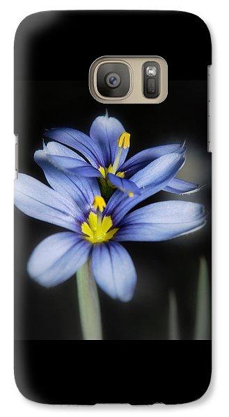 Galaxy Case featuring the photograph Little Blue Flowers by Karen Musick