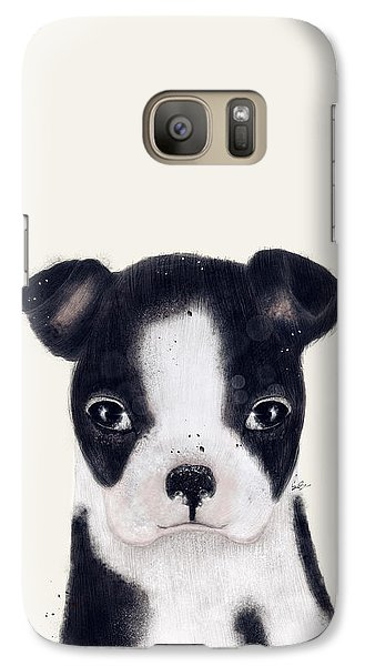 Galaxy Case featuring the painting Little Boston Terrier by Bri B