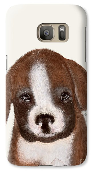 Galaxy Case featuring the painting Little Boxer by Bri B