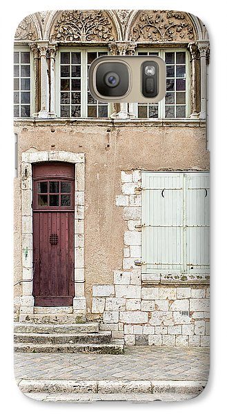 Galaxy Case featuring the photograph Little Brown Door by Melanie Alexandra Price