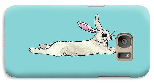 Little Bunny Rabbit Galaxy Case by Katrina Davis