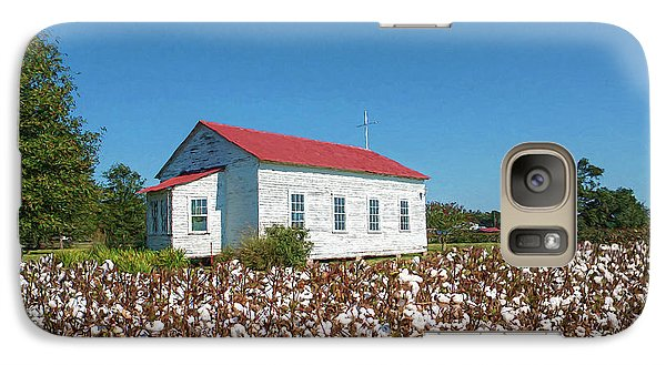 Galaxy Case featuring the photograph Little Church In The Cotton Field by Bonnie Barry