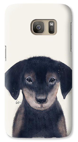 Galaxy Case featuring the painting Little Dachshund by Bri B