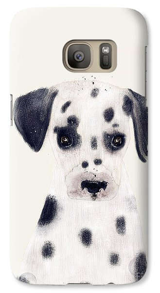 Galaxy Case featuring the painting Little Dalmatian by Bri B