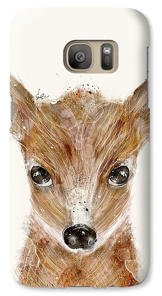Galaxy Case featuring the painting Little Deer Fawn by Bri B