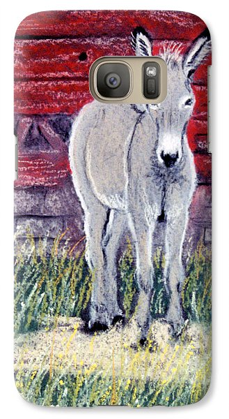 Galaxy Case featuring the pastel Little Donkey by Jan Amiss