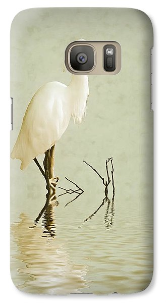 Stork Galaxy S7 Case - Little Egret by Sharon Lisa Clarke