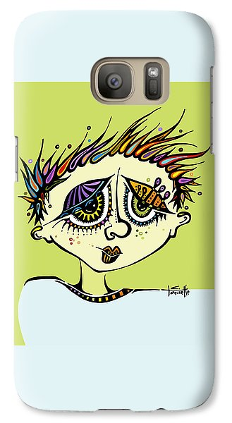 Galaxy Case featuring the drawing Little Einstein by Tanielle Childers